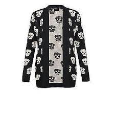 skull sweater skull cardigan sweaters ebay