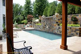 Pool Landscaping Ideas by Des Peres Swimming Pool Waterfall Makeover Poynter Landscape