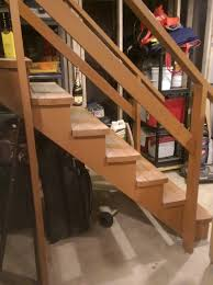 what is required to enclose and finish my basement stairs home