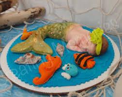 baby mermaid cake topper cupcake cookies cake decorations