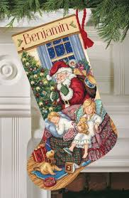 sweet dreams stockings cross stitch christmas stocking kit