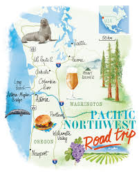 Maps Portland by Pacific Northwest Map By Scott Jessop Seattle Portland