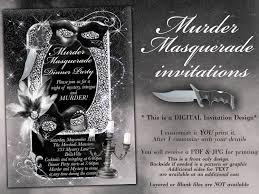 Murder Mystery Dinner Party Kit Masquerade Murder Mystery Party Invitation Murder Mystery