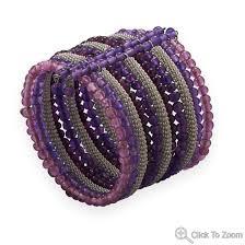 pink glass bead bracelet images Flex cuff fashion bangle set with purple and pink glass beads hubket jpg