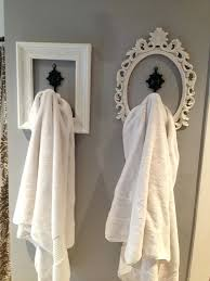 Bathroom Towel Hooks Ideas Bath Towel Hooks Hang Your Etc Used Frames Spray Paint