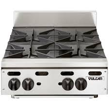 vulcan gas stove pilot light vhp424 liquid propane 24 4 burner countertop range 110 000 btu