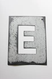 metal letter stencil zinc steel initial home room decor diy signs