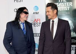 James Franco Meme - tommy wiseau tries to steal mic from james franco creates viral