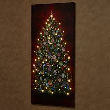 happy tree 59 inch led lighted canvas wall
