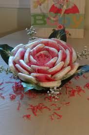 diaper rose basket centerpiece baby shower gift diaper cake lovely