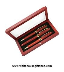 house gift president obama rosewood pen set with presentation case from the