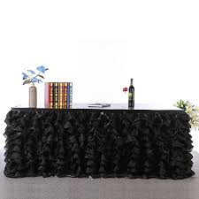black tulle table skirt multi layers 275x76cm tulle table skirt wedding banquet birthday