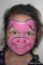 Kids Pig Halloween Costume 3 Pigs Face Makeup Pig Face Paint Face Painting