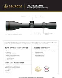 2018 2 series pricing guides new for 2018 leupold vx freedom series of riflescopes the