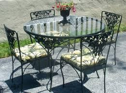 Wrought Iron Patio Table Set Vintage Woodard Wrought Iron Patio Furniture Set Ultra Design