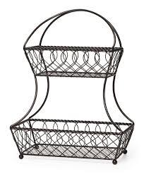 metal fruit basket gourmet basics by mikasa lattice 2 tier metal fruit basket