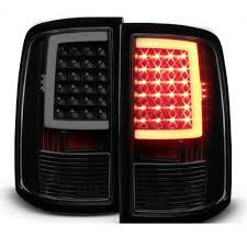dodge ram led tail lights 09 17 dodge ram 1500 2500 3500 led tail lights black smoked
