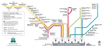 Sydney Subway Map by Sydney Ferry Map U2022 Mapsof Net