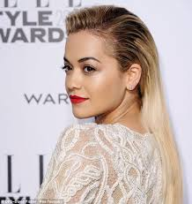 extension in shaved back and side hair rita ora cuts off her long blonde hair extensions daily mail online