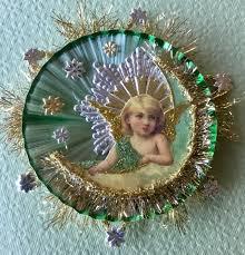 vintage look ornament in moon