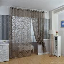 2017 ivolador solid 3d floral sheer window curtain balcony
