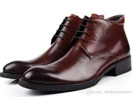 2017 mens dress shoes fashion classic men boots genuine leather