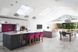 how to design kitchen island rear extension open plan living large kitchen island with