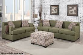 Small Loveseat For Bedroom Montreal Green Fabric Sofa And Loveseat Set Steal A Sofa
