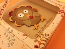 tarjetas de accion de gracias hechas a mano thanksgiving day
