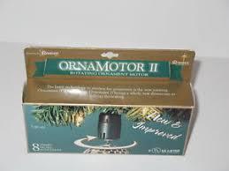 ornamotor ii 3 set rotating ornament motor new in box