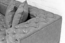Tufted Faux Leather Sofa by Tufted Faux Leather Sofa Infosofa Co