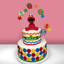 street elmo birthday cake