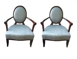 Barbara Barry Armchair Pair Of Barbara Barry Oval X Back Arm Chairs Previously Owned By