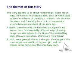story themes about friendship the end of something by ernest hemingway ppt download