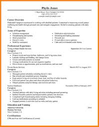 Resume Examples For Caregivers 100 Resume For Caregiver For Elderly Caretaker Sample Resumes
