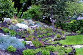 patio mesmerizing stone backyard landscaping ideas hill simple