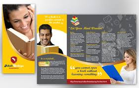 education brochure design arts council education brochure template
