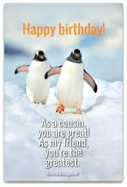 Penguin Birthday Meme - cousin birthday quotes also awesome funny cousin birthday quotes