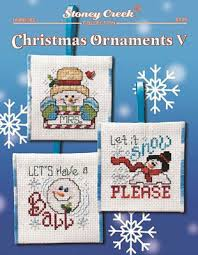 stoney creek ornaments v cross stitch pattern
