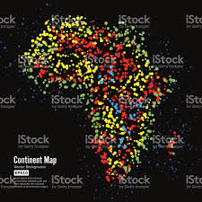 Africa Continent Map by Africa Continent Map Abstract Background Vector Formed From