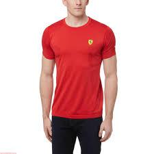ferrari clothing men puma ferrari evoknit t shirt rosso corsa 762147 01 762147