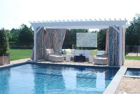 Gazebo Curtain Ideas by Villa Poolside Pagoda With Wet Bar Loversiq