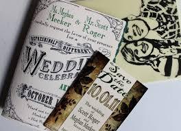 custom wedding invitations designed by the groom ivory black green
