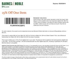 Barnes And Noble Nook Coupon Bn Coupon Code 15 Off Holiday Gas Station Free Coffee Coupons