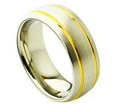 8mm ring cobalt 8mm ring with silver and 2 gold color in men s rings
