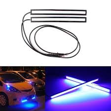 car led lights for sale sale 17cm blue cob car led lights drl fog daytime driving l