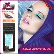 eyeliner tattoo violent eyes brand new navy blue water transfer eyeshadow tattoo sex body art