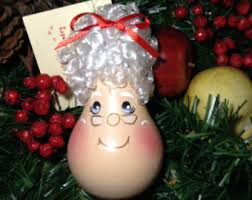 mrs claus ornament etsy