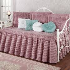 Daybed Comforter Set Intrigue Chenille Ruffled Flounce Daybed Bedding Set