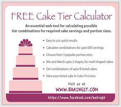 free to use cake tier stacker at www bakingit com build and
